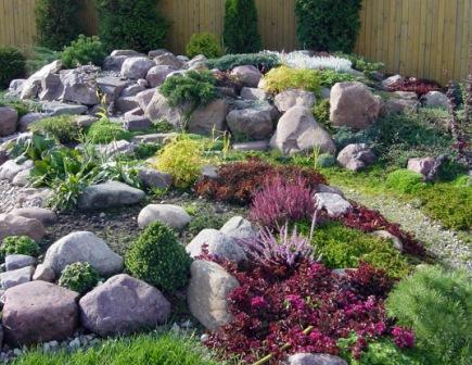 каменный цветник