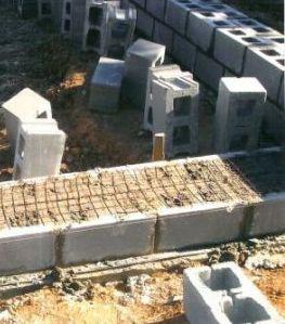 фундамент теплицы из блоков