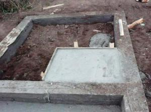 печь каменка - фундамент