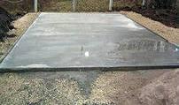 плитный фундамент теплицы из поликарбоната
