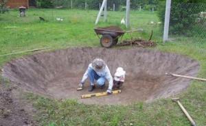 садовый пруд - котлован
