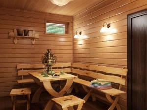 внутренняя отделка русской бани