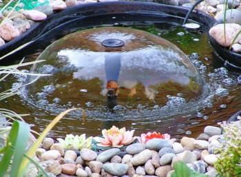 От насадки зависит форма фонтана