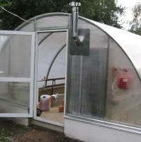 отопление печью теплицы из поликарбоната