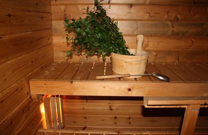 русская баня из дерева