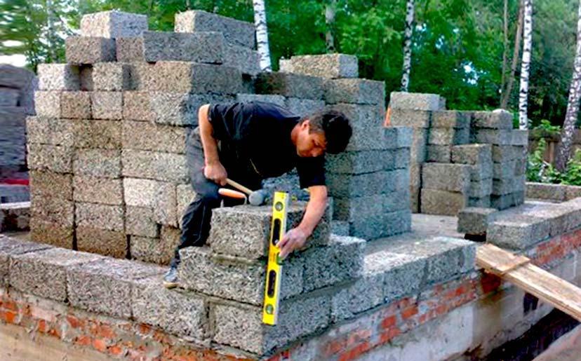строительство дома из блоков из арболита