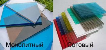 дляя теплицы используются разные виды поликарбоната